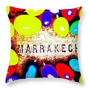 Easter In Marrakech Throw Pillow
