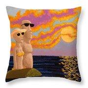 Easter Island Sunset Throw Pillow