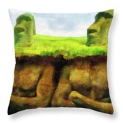 Easter Island Truth Throw Pillow