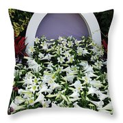 Easter Lillies Throw Pillow