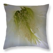 Easter Lily Cactus Throw Pillow