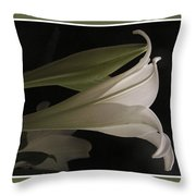 Easter Lily Card Throw Pillow