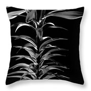 Easter Lily One Throw Pillow