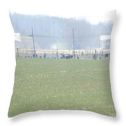 Easter Monday Amish Youth Gathering Throw Pillow