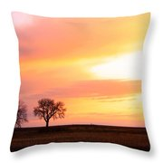 Easter Morning Sunrise Throw Pillow