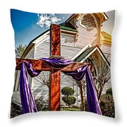 Easter Morning Throw Pillow