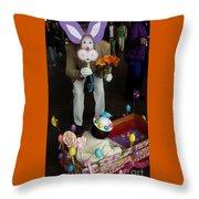 Easter Parade Visit Throw Pillow