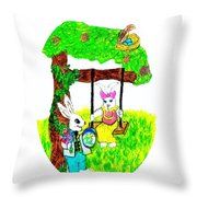 Easter Show Some Bunny Love Throw Pillow