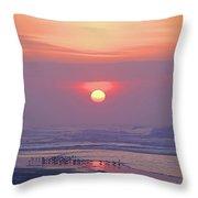 Easter Sunrise Throw Pillow