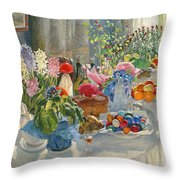 Easter Table Throw Pillow