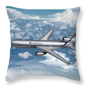 Eastern Air Lines Dc-10-30 Throw Pillow