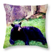 Eastern Black Bear Throw Pillow