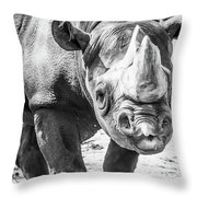Eastern Black Rhinoceros Throw Pillow