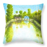 Eastern Canal Impression Throw Pillow