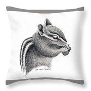 Eastern Chipmunk Throw Pillow
