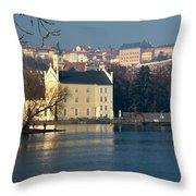 Eastern European Fishing Throw Pillow