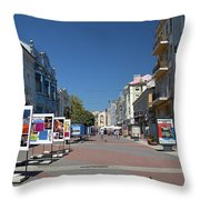 Eastern European Town Throw Pillow
