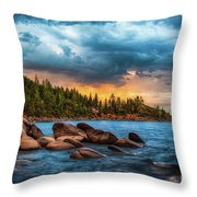 Eastern Glow At Sunset Throw Pillow