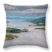 Eastern Kyle Of Bute Throw Pillow