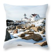 Eastern Point Light II Throw Pillow