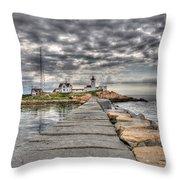 Eastern Point Lighthouse Throw Pillow