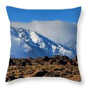 Eastern Sierras At Alabama Hills Throw Pillow