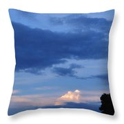 Eastern Sunset Over Hidden Lakes Throw Pillow