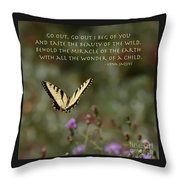 Eastern Tiger Swallowtail Butterfly - The Beauty Of The Wild Throw Pillow
