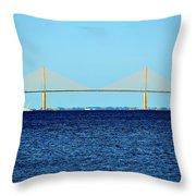 Eastern View Of The Bridge Throw Pillow