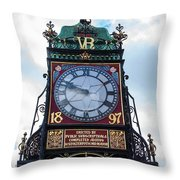 Eastgate Clock In Chester Throw Pillow