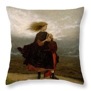 Eastman Johnson - The Girl I Left Behind Me Throw Pillow
