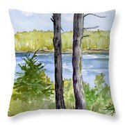 Eastport Maine Coastal Afternoon Throw Pillow