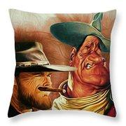 Eastwood And Wayne Throw Pillow