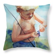 Easy Does It Now Throw Pillow