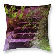 Easy Steps  Throw Pillow by Jeff Swan