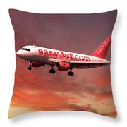 Easyjet Airbus A319 G-ezit Throw Pillow