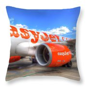 Easyjet Airbus A320 Throw Pillow