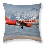 Easyjet Tartan Livery Airbus A319-111 Throw Pillow
