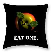 Eat One  Throw Pillow