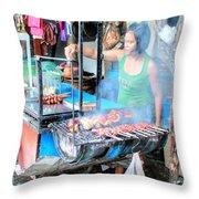 Eat Ost Street Throw Pillow