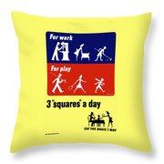 Eat The Basic 7 Way Throw Pillow