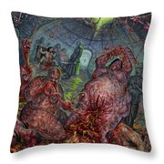 Eating The Stench Throw Pillow