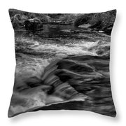 Eau Claire Dells Black And White Flow Throw Pillow