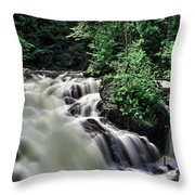 Eau Claire Gorge Water Fall Throw Pillow