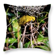 Eavesdropping Throw Pillow