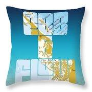 Ebb And Flow Bahamas Throw Pillow