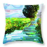 Ebb And Flow - Coppped Throw Pillow