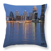 Ebb And Flow Of Louisville Throw Pillow