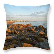 Ebb Tide On Cape Cod Bay Throw Pillow