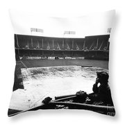 Ebbets Field, C1950 Throw Pillow